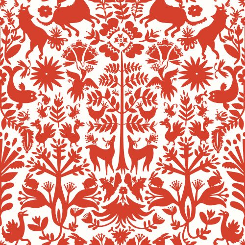 Otomi (Red) Tile – Hygge & West: Temporary Wallpaper