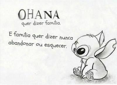 ohana quer dizer família e família quer dizer nunca abandonar ou esquecer - Pesquisa Google