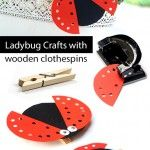 Ladybug+Crafts+with+wooden+clothespins