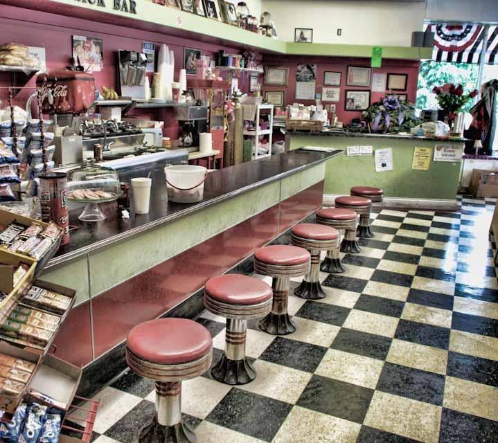 Old fashion soda shop 33