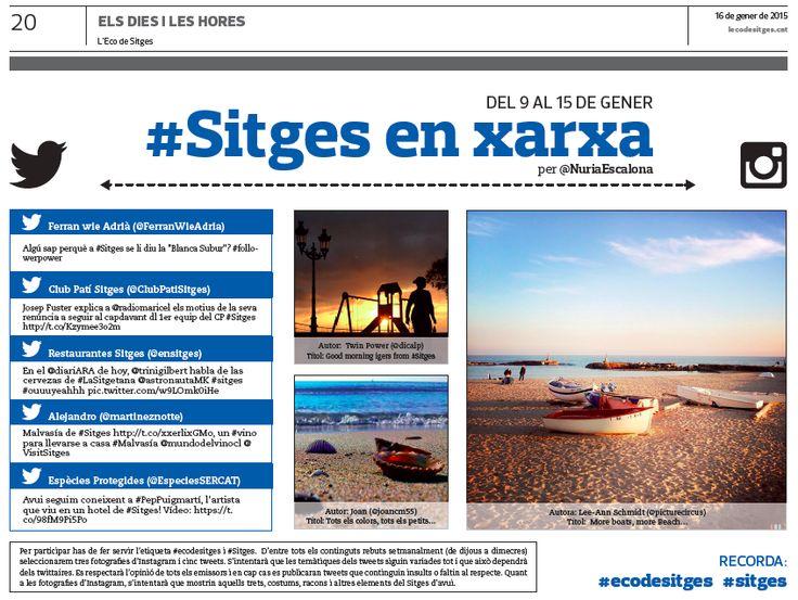 #Sitgesenxarxa 52 a L'Eco de Sitges - #Twitter i #Instagram sobre #Sitges