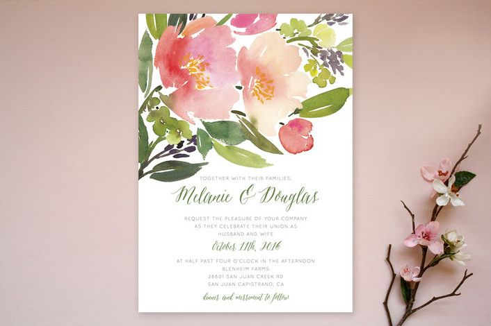 Watercolor Floral by Yao Cheng at minted.com