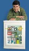 Porta Transparente para Geladeira. O engenheiro mecânico Paulo Roberto de Souza resolveu vender sua invenção sob encomenda enquanto espera fechar contrato com alguma indústria. Em Salto, interior paulista, ele desenvolveu uma porta transparente de geladeira que, garante, reduz o consumo do aparelho convencional em 30%. É possível acender a luz e localizar o produto desejado com a porta fechada, assim, a geladeira fica menos tempo aberta
