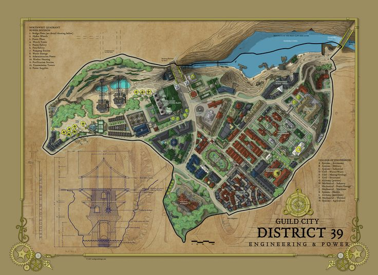 Engineering District _ Cartographer's Guild annual mapping by Ric Snodgrass