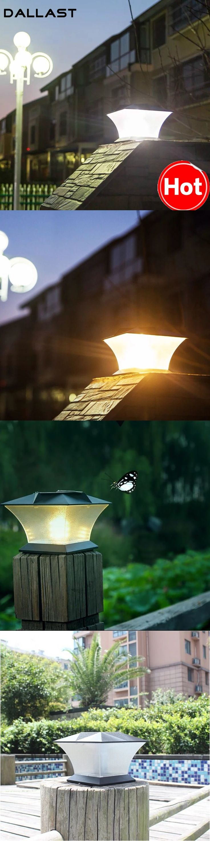 Garden Led Light Solar Panel Lamp Light Sensor Waterproof Mounted Outdoor Stairs Fence Wall Lamp Lighting DALLAST