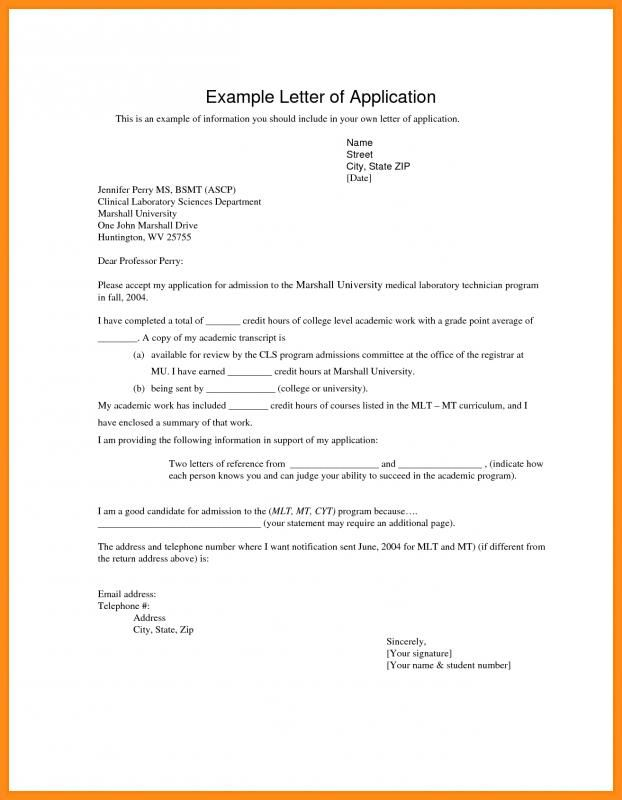 How To Write An Application Letter Application Letters Writing An Application Letter Application Letter Template