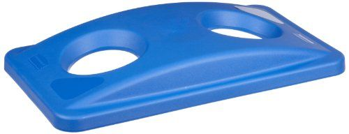 Rubbermaid Commercial FG269288BLUE Slim Jim Rectangular Recycling Container Top, Blue