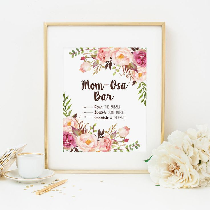 Mom-Osa Baby Shower Table Sign Printable Bohemian Floral Mimosa Shower Sign Pink Floral Momosa Sign Boho Floral Table Sign Decoration 265 by MossAndTwigPrints on Etsy