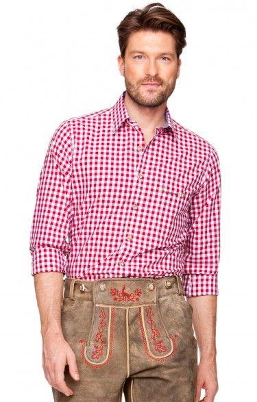 Oktoberfest chequered shirt Rufus dark red
