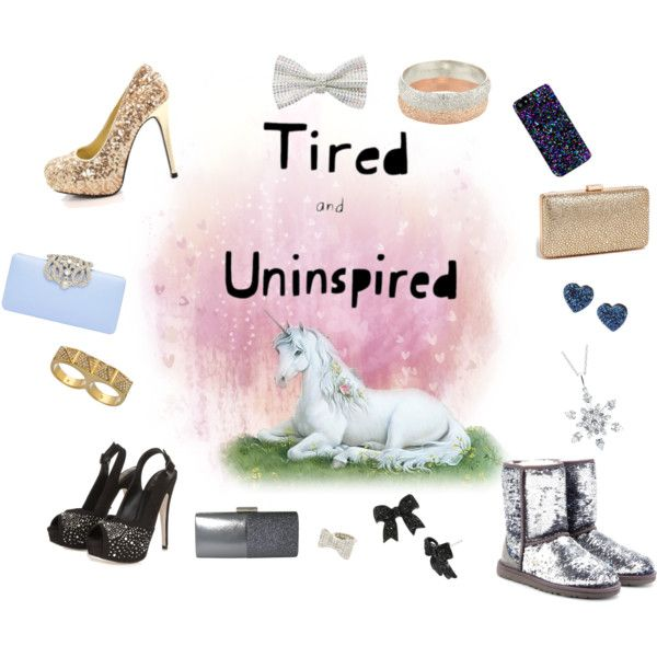"""""""Sparkly accessories~tired and uninspired"""" by anatrajj on Polyvore"""