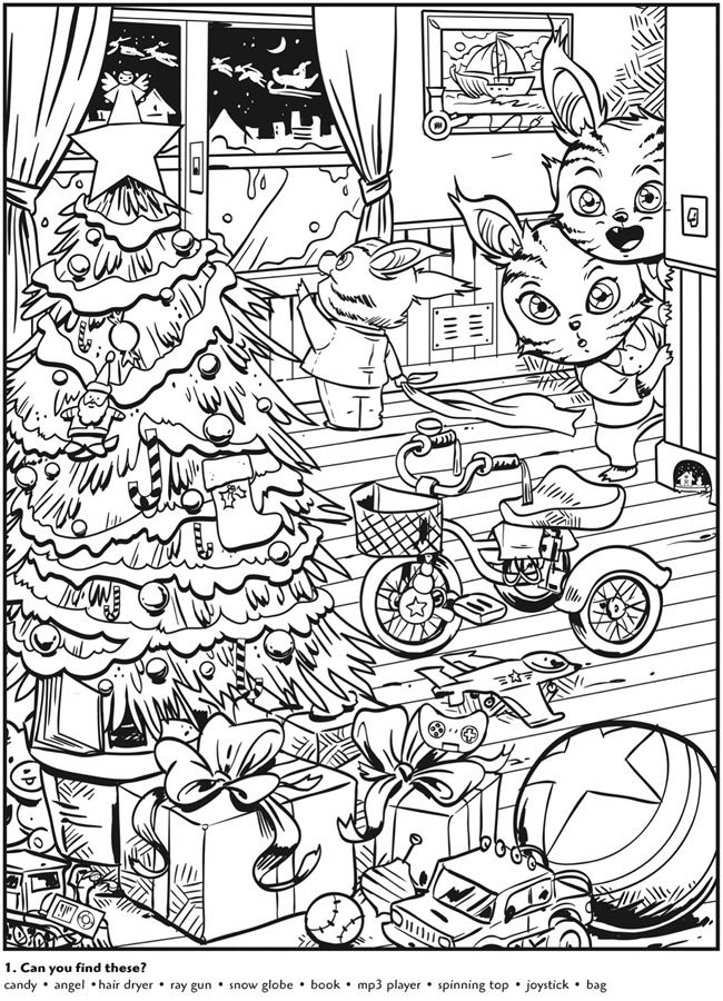 free hidden coloring pages - photo#13
