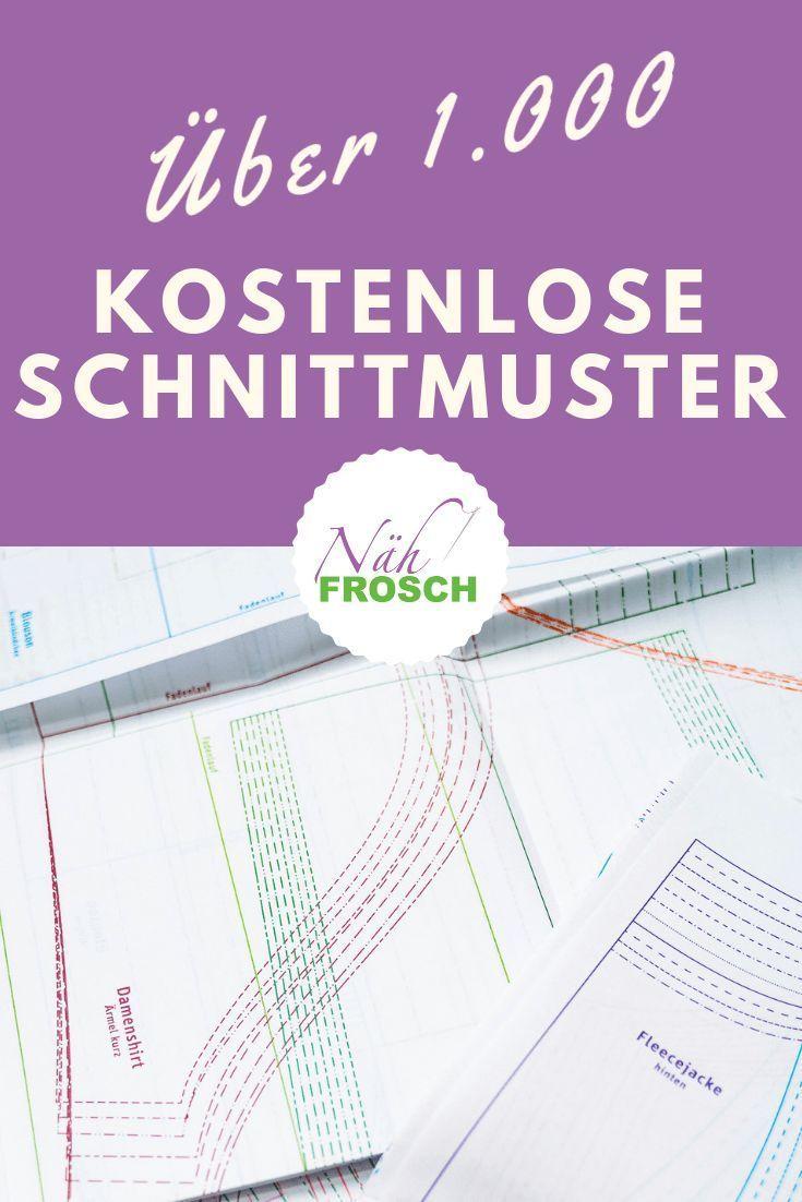 Über 1.500 kostenlose Anleitungen, Nähanleitungen und Gratisbücher   – Schnittmuster: Tipps & Anpassungen
