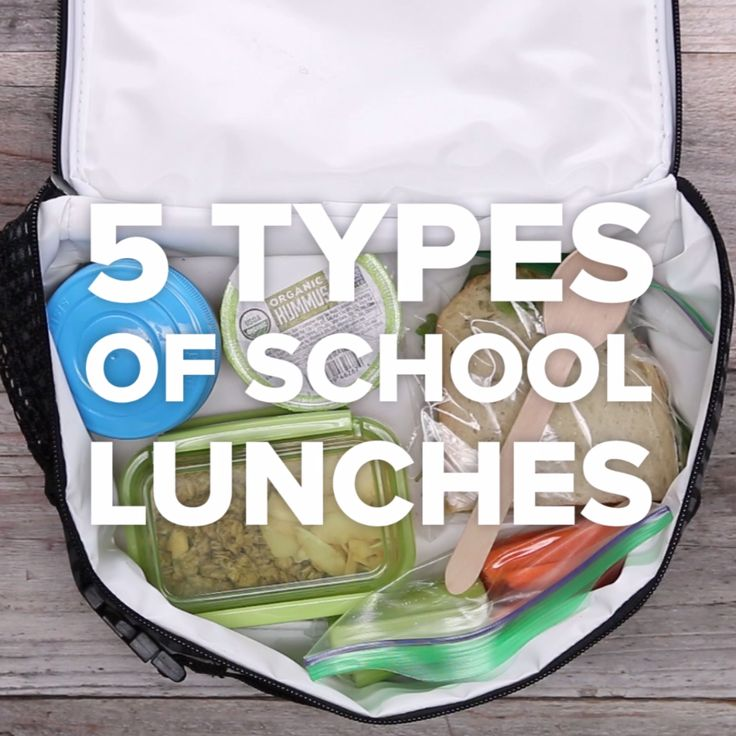 5 Types of School Lunches