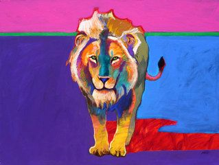 Male Lion,John Nieto, I want to have this in my living room!!!