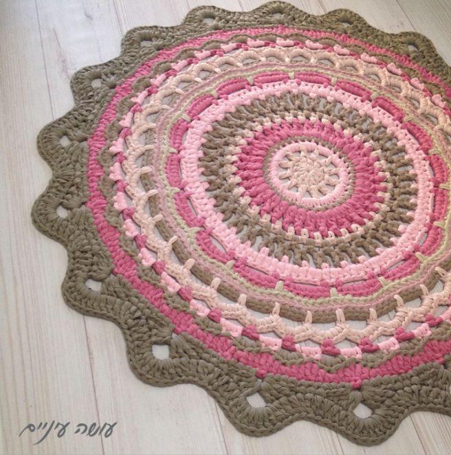 Haciendo ojo - Mandala alfombra invierno hilo camisetas || OsaEinaim - camiseta alfombra hilados - mandala Invierno