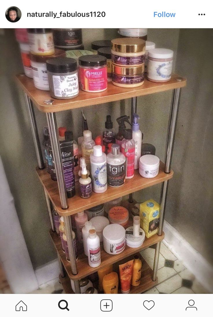 Love this storage idea for hair products