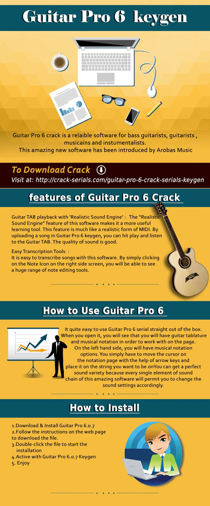 Guitar pro 6 keygen will not only make writing music easier for you, it  has over 100 studio-recorded sound banks, effects, and amps that will help you in creating your own presets.