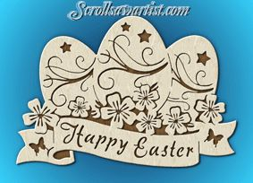 Scroll Saw Patterns :: Holidays :: Easter :: Happy Easter -