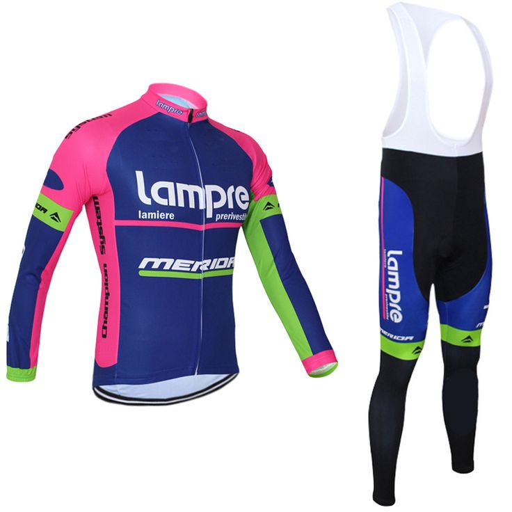 ==> [Free Shipping] Buy Best Men's Cycling Jersey Lampre Cycling Suit breathable Long Sleeve Bike Jersey merida bicycle clothing Racing mtb Ropa Ciclismo Online with LOWEST Price | 32798088891