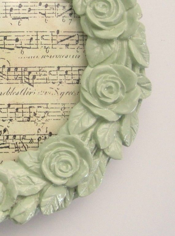 Shabby chic picture frame #decor #mint #shabbychic @Mary Powers Wallace Tauer