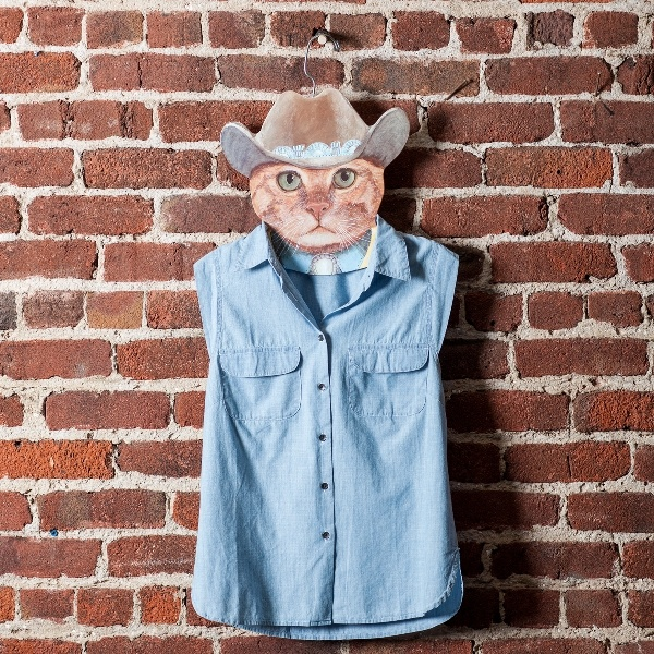 The Cowboy Cat hanger with the John Wayne stare and no-nonsense attitude.: Cat Hangers, Things Cat, Cowboys Cat
