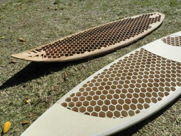 Light-weight surfboard with Honeycomb CNC routing Wooden Board Day 2011 | Drift Surfing