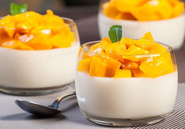 Crema de Vainilla con Frutas.