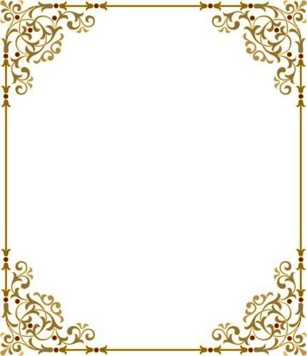 Resultado de imagen para bordes elegantes vintage png