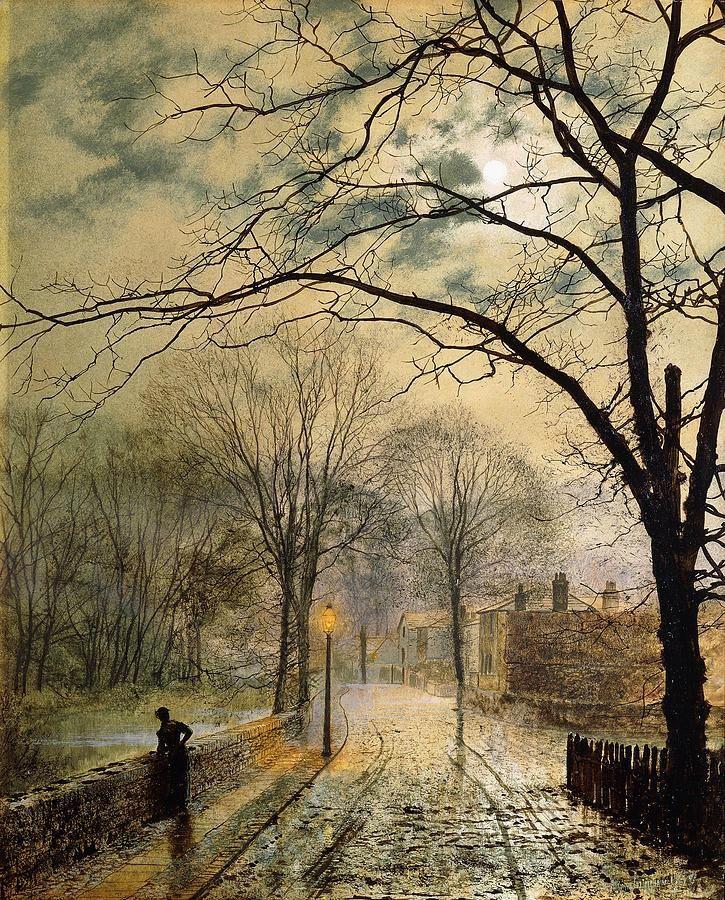 A Moonlit Stroll, Bonchurch, Isle of Wight - John Atkinson Grimshaw, 1878