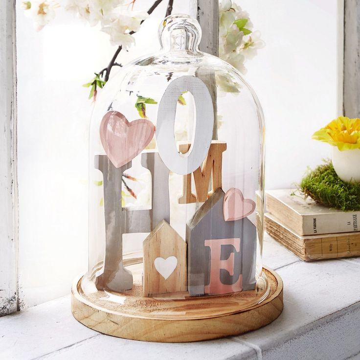 Mailord Collection Set: Glasglocke mit Holzdeko Home für 39,99€. Hübsche Wohndeko, Höhe 27,5 cm, Ø 19,5 cm, Aus Holz und Glas bei OTTO
