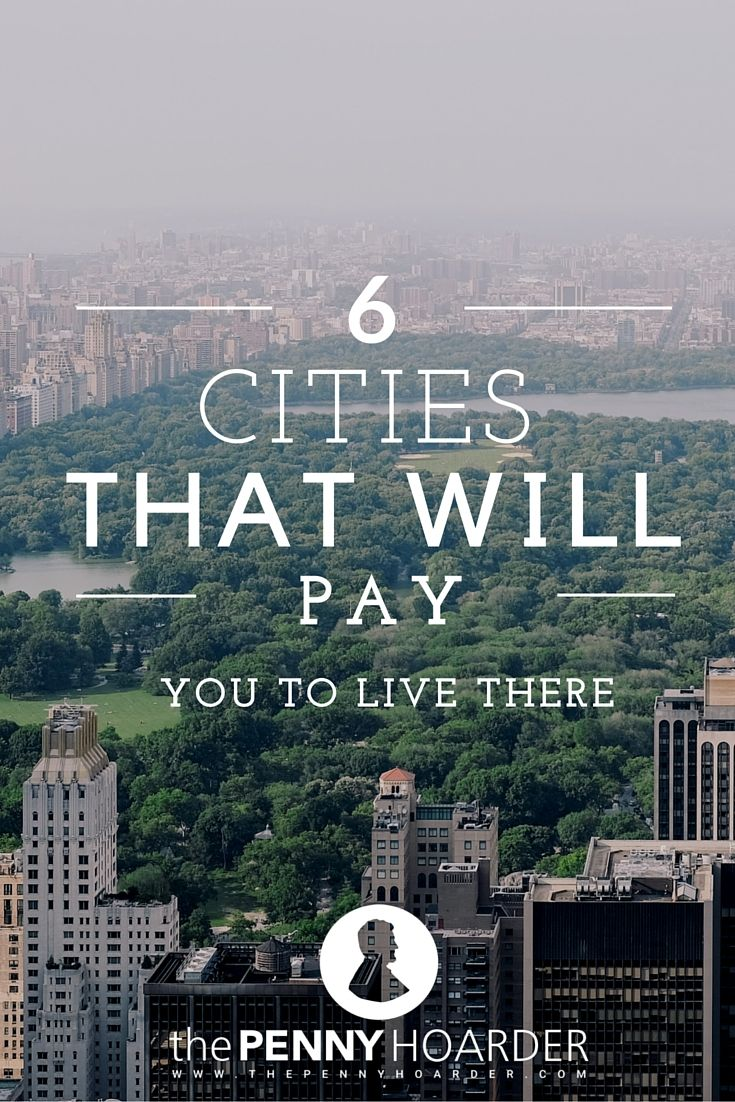 In the face of declining or slowing population growth, some cities have decided to get aggressive about their survival. Some cities are giving away free land, while others are literally handing out stacks of cash to folks who agree to move. If you're in the mood for a new town, why not have the town pay to have all of your awesomeness? - The Penny Hoarder http://www.thepennyhoarder.com/6-cities-that-will-pay-you-to-live-there/