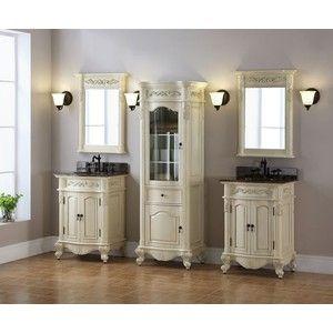 windsor 24 inch antique bisque bathroom vanity is an antique replica