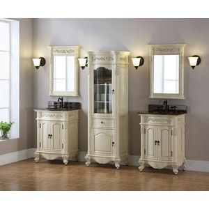 Photo On Windsor inch Antique Bisque Bathroom Vanity is an antique replica