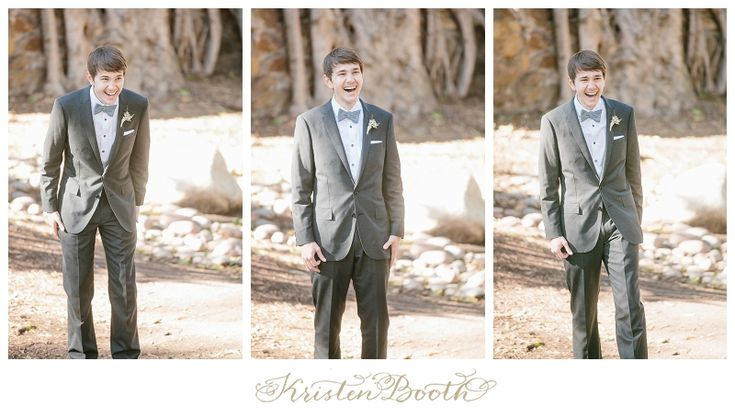grooms reaction to 1st look- photo by kristen booth{Eren and Ahna} San Diego Outdoor Wedding Photographer