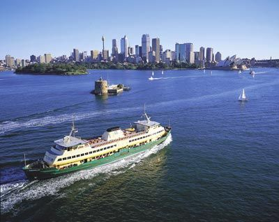 Manly ferry - a great way to travel to, well, Manly