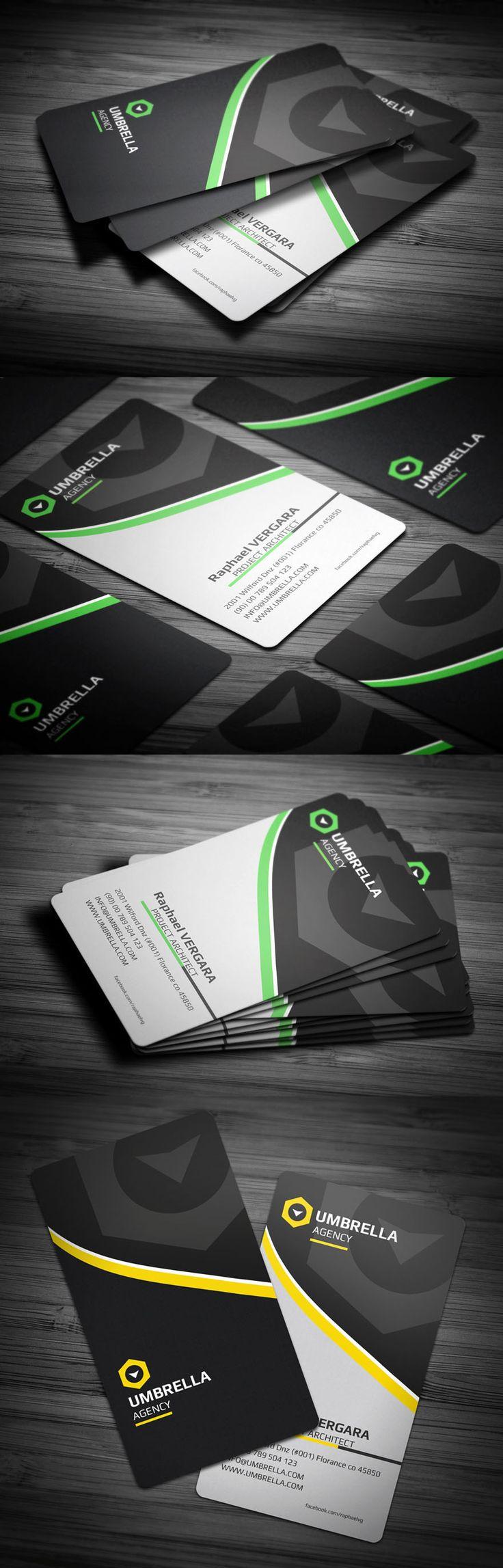 Unique Business Cards: Different colors. Same design. - Inspirations
