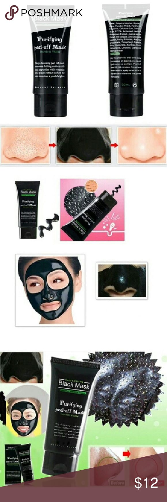 Blackhead Remove Acne Nose Face Mask Features: Removes blackheads Get rid of acne Eliminate oily  Specification :50 g/branch Applicable people : -Facial skin aging, fine lines and blemishes -Oily skin strawberry nose -Nose large pores blackheads -Daily sit the computer in front of computer radiation  Usage :Dry the cleansed area and apply the masque on desired area(avoid eyebrow,eyes,and lips).peel it off after 20-30 minutes.  Package including : 1 pc Blackhead Remover Mud Makeup