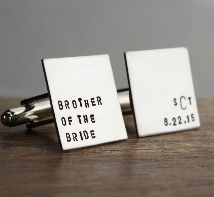 ... gift for your brother on your wedding day. USD28 www.sierrametaldesign