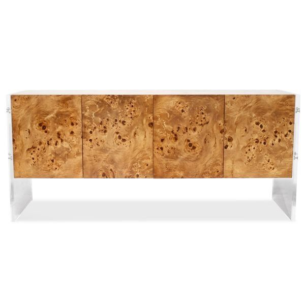 Milo Baughman made Burled wood furniture cool in the 60's. So of course, with the MCM craze, it's become a sought after design element.    ...