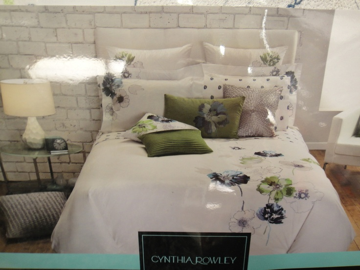 Cynthia Rowley Blue Green Floral King Comforter Set