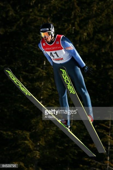 Emmanuel Chedal of France in action during day three of the FIS World Ski Jump Competition on January 25 2009 at Whistler Olympic Park in Whistler...