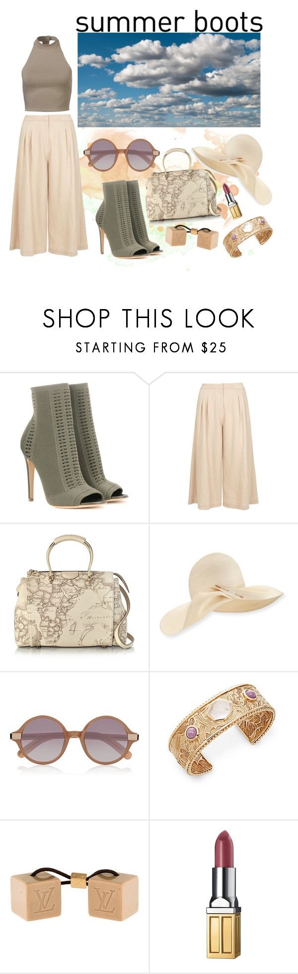 """Summer Boots"" by roo-roo-lu ❤ liked on Polyvore featuring Gianvito Rossi, Dorothy Perkins, Alviero Martini 1° Classe, Eugenia Kim, Elizabeth and James, Stephen Dweck, Louis Vuitton and Elizabeth Arden"