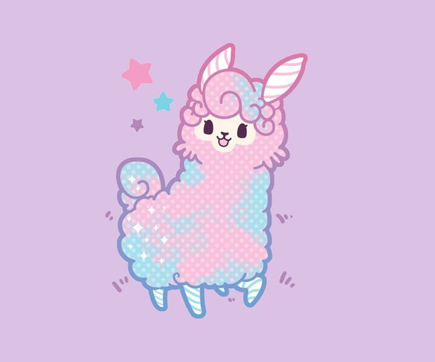 Download Candy Llama Wallpapers To Your Cell Phone Blue Cute Kawaii Wallpaper Wallpaper Kawaii