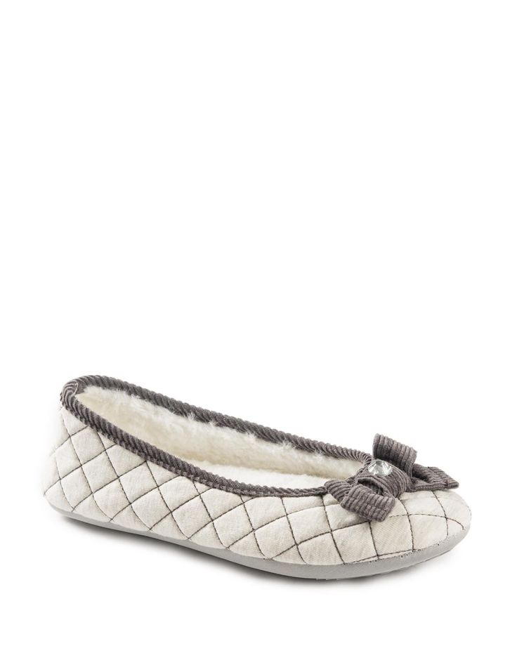 Quilted Pump Slippers