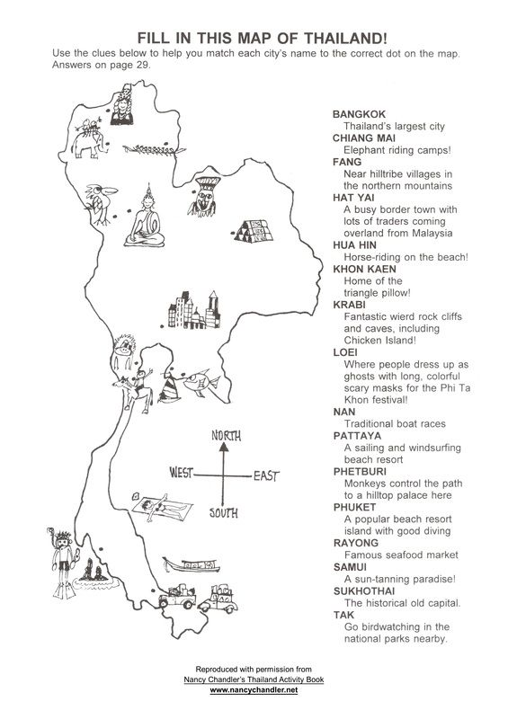 Free Thailand Activity Map Download From Nancy Chandler Thailand