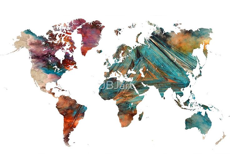 World Map triangle