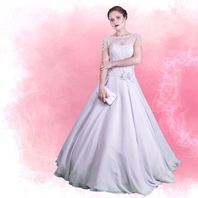 Hääpuku Beadtrice, Wedding dress Beadtrice SuviMorsian collection