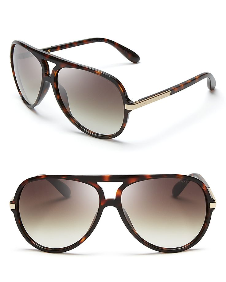 MARC BY MARC JACOBS Acetate Aviator Sunglasses | Intended ...