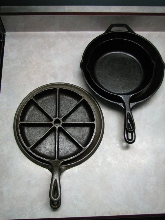 Cast Iron Skillet Set   Scone/Cornbread Pan  by terenciostreasures, $59.99