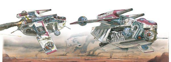 Republic Gunship cutaway